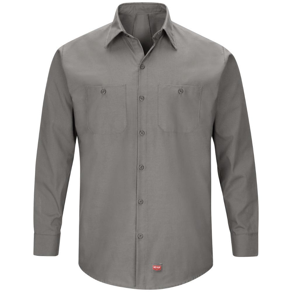 Red Kap Mens Long Sleeve Crew Shirt