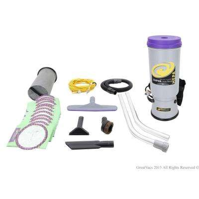 Super CoachVac 10 qt. Commercial Backpack Vacuum Cleaner with Attachment Kit