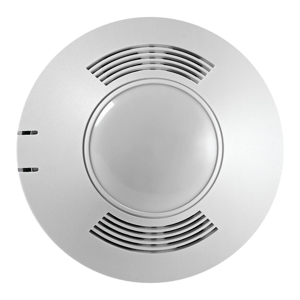 Greengate 120-347-Volt AC at 50/60Hz 500 sq. ft. MicroSet Dual Tech Passive Ultrasonic Infrared 180-Degree Occupancy Sensor