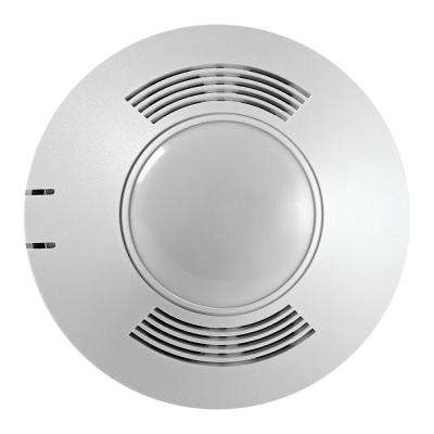 120-347-Volt AC at 50/60Hz 500 sq. ft. MicroSet Dual Tech Passive Ultrasonic Infrared 180-Degree Occupancy Sensor