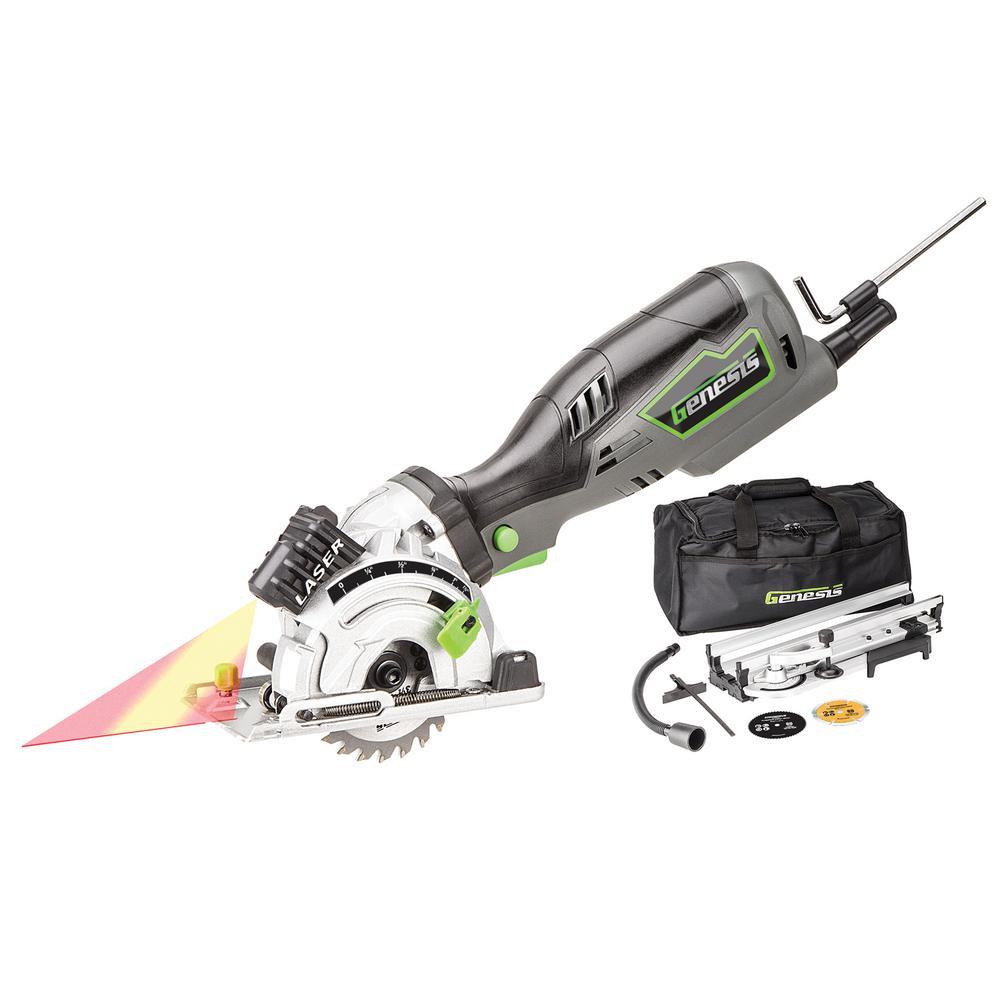 plunge compact circular saw kit with laser