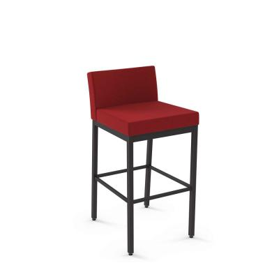 Fairfield 26 in. Red Polyester / Dark Brown Metal Counter Stool