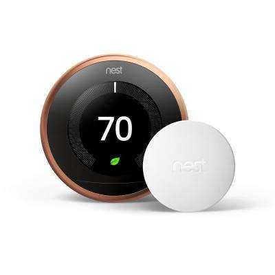 Smart Learning Wi-Fi 24-Day Programmable Thermostat, 3rd Gen, Copper with Temperature Sensor