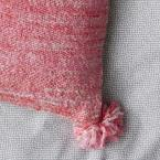 Cstudio Home by The Company Store 20 in. x 20 in. Pink Woven Striped Pillow Cover