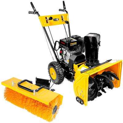 31 in. 196 cc Single-Stage Gas Snow Blower with Power Brush Sweeper Attachment