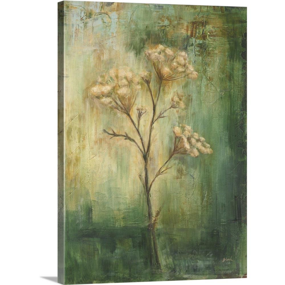 Greatbigcanvas green tansy i by carol black canvas wall art 2441947 24 18x24 the home depot