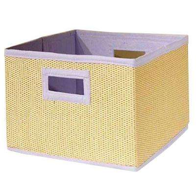 13 in. x 8 in. Cream and Purple Storage Baskets (Set of 3)