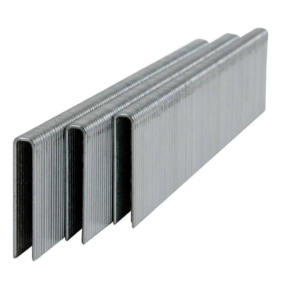 1 in. x 18-Gauge Narrow Crown Galvanized Staples (5000 per Box)