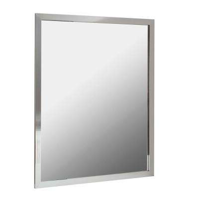 Reflections 30 in. W x 24 in. H Aluminum Wall Framed Mirror in Silver