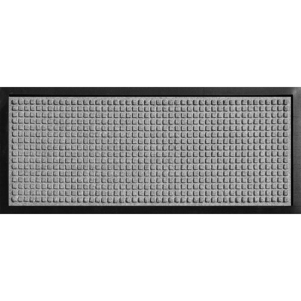 Aqua Shield Boot Tray Squares Medium Grey 15 in. x 36 in. Door Mat