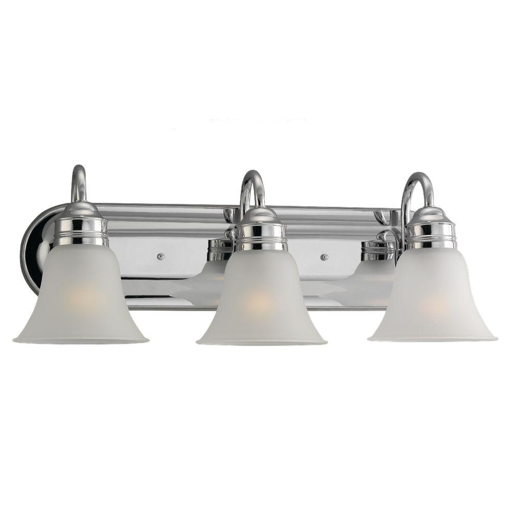 sea gull lighting gladstone 3 light chrome vanity fixture 44852 05 the home depot. Black Bedroom Furniture Sets. Home Design Ideas