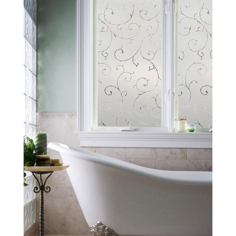 decorative film for bathroom windows artscape 36 in x 72 in etched lace window film 02 3011 the  x 72 in etched lace window film