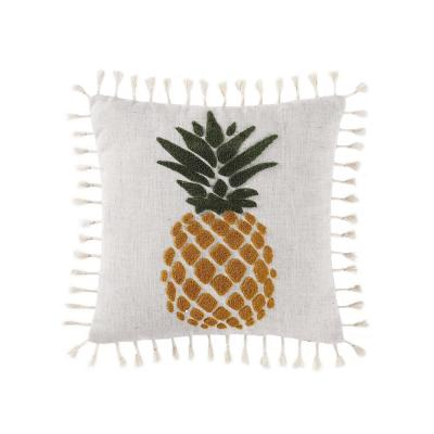 Sun Washed Isle White and Yellow and Green Geometric Hypoallergenic Down Alternative 18 in. x 16 in. Throw Pillow