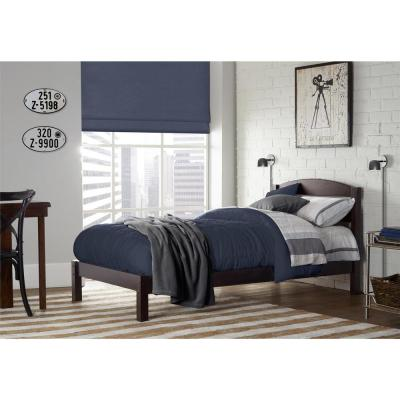 Braylon Twin Wood Bed in Espresso