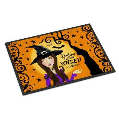 18 in. x 27 in. Indoor/Outdoor Halloween Wicked Witch Door Mat