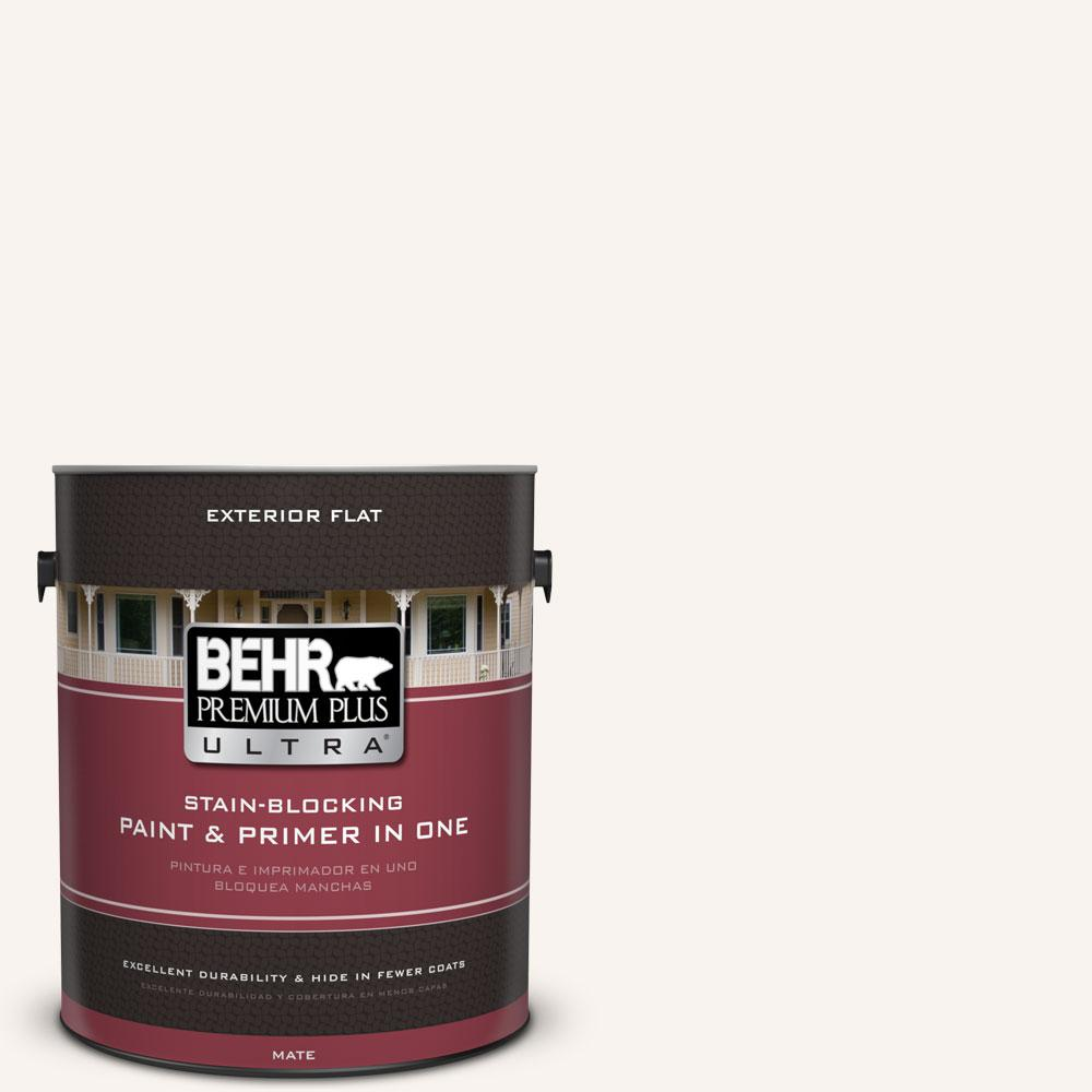 BEHR Premium Plus Ultra 1-gal. #W-D-700 Powdered Snow Flat Exterior Paint
