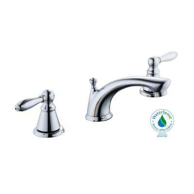 Adley 8 in. Widespread 2-Handle Low-Arc Bathroom Faucet in Chrome