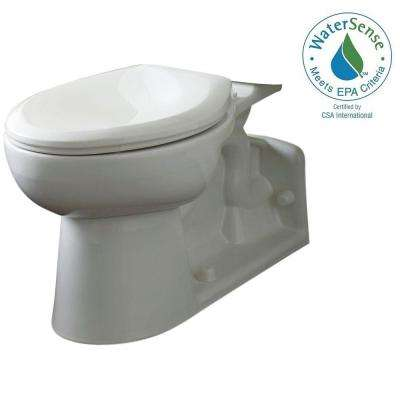 Yorkville Chair Height Elongated Pressure-Assisted Toilet Bowl Only in White
