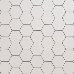 LuxeCraft White 4-1/4 in. x 4-7/8 in. Glazed Ceramic Hexagon Wall Tile (3 sq. ft./Case)