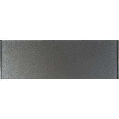 Metallic Gray 4 in. x 12 in. Glass Wall Tile (5 sq. ft. / case)