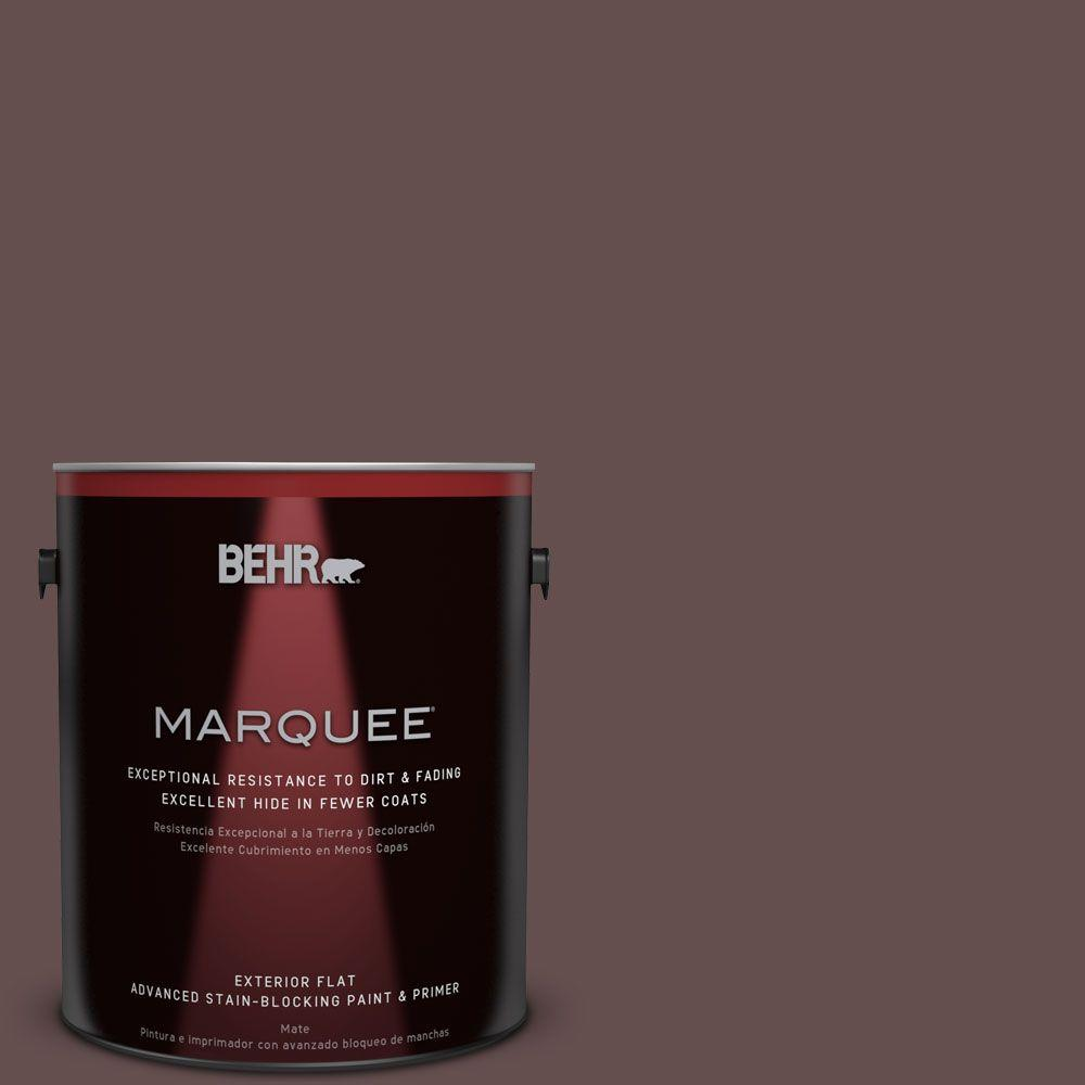 1 gal. #HDC-CL-13A Library Leather Exterior Flat Paint