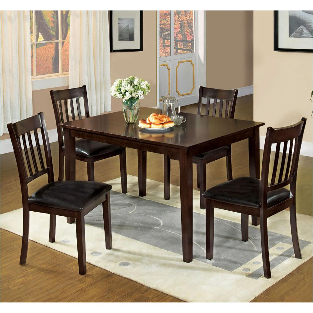 Venetian worldwide west creek i 5 piece espresso dining for Dining room t