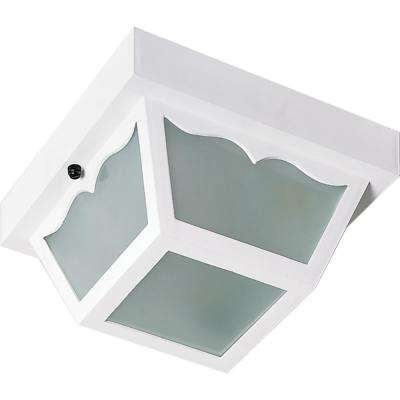 Tony White 2-Light Outdoor Flush Mount