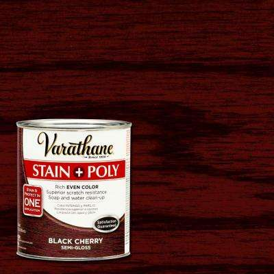 1-qt. Black Cherry Stain and Polyurethane (Case of 2)