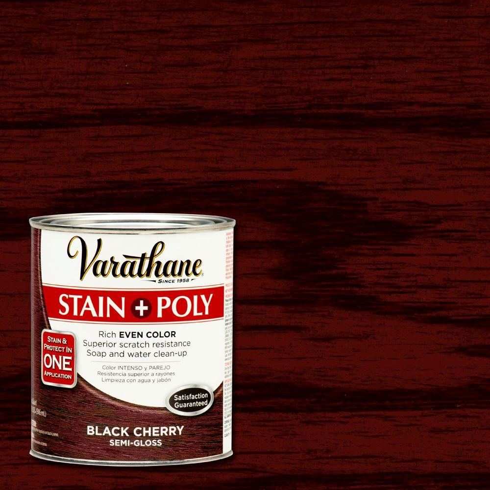 Varathane 1 Qt Black Cherry Stain And Polyurethane 266155 The