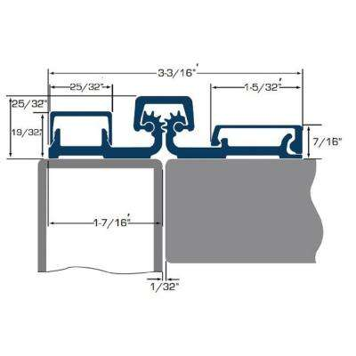 95 in. Full Surface Continuous Hinge Heavy Duty Limited Frame in Duranodic