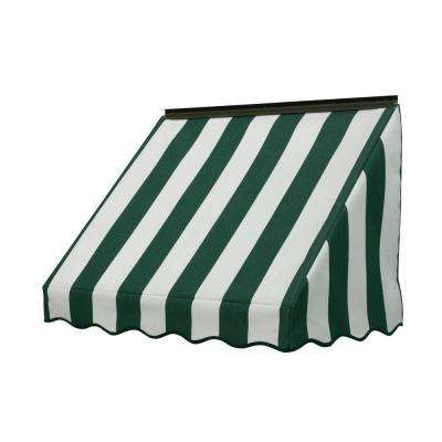 3 ft. 3700 Series Fabric Window Awning (23 in. H x 18 in. D) in Forest Green/Natural (6-Bar)