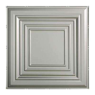 Traditional 3 - 2 ft. x 2 ft. Vinyl Lay-In Ceiling Tile in Argent Silver