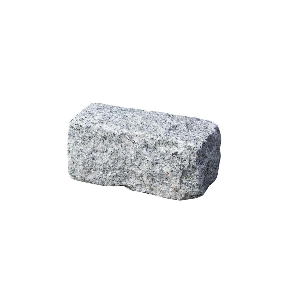 Cobblestone 8 in. x 4 in. x 4 in. Granite Gray