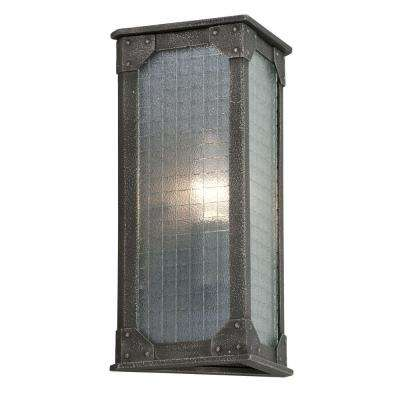 Hoboken Aged Pewter Outdoor Wall Mount Sconce