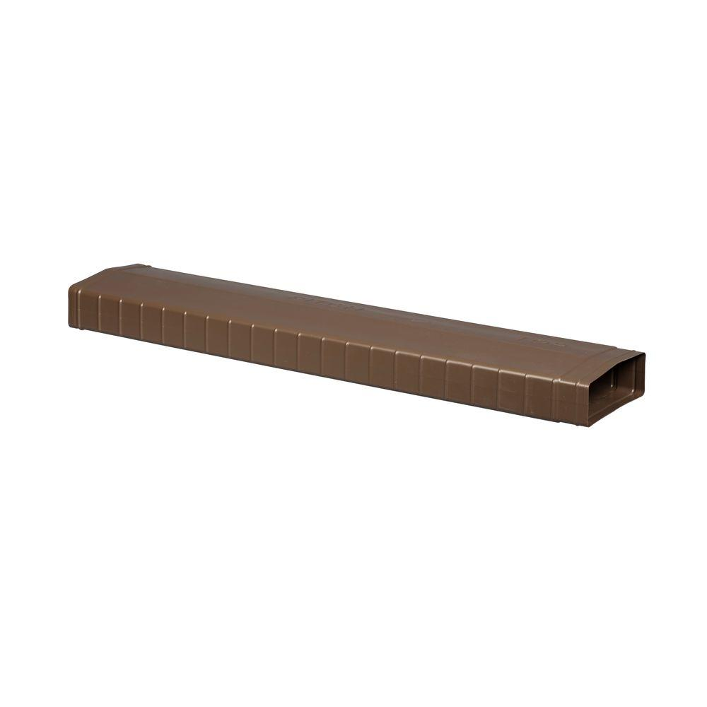 Flex-A-Spout Brown Covered Splash Block Extender
