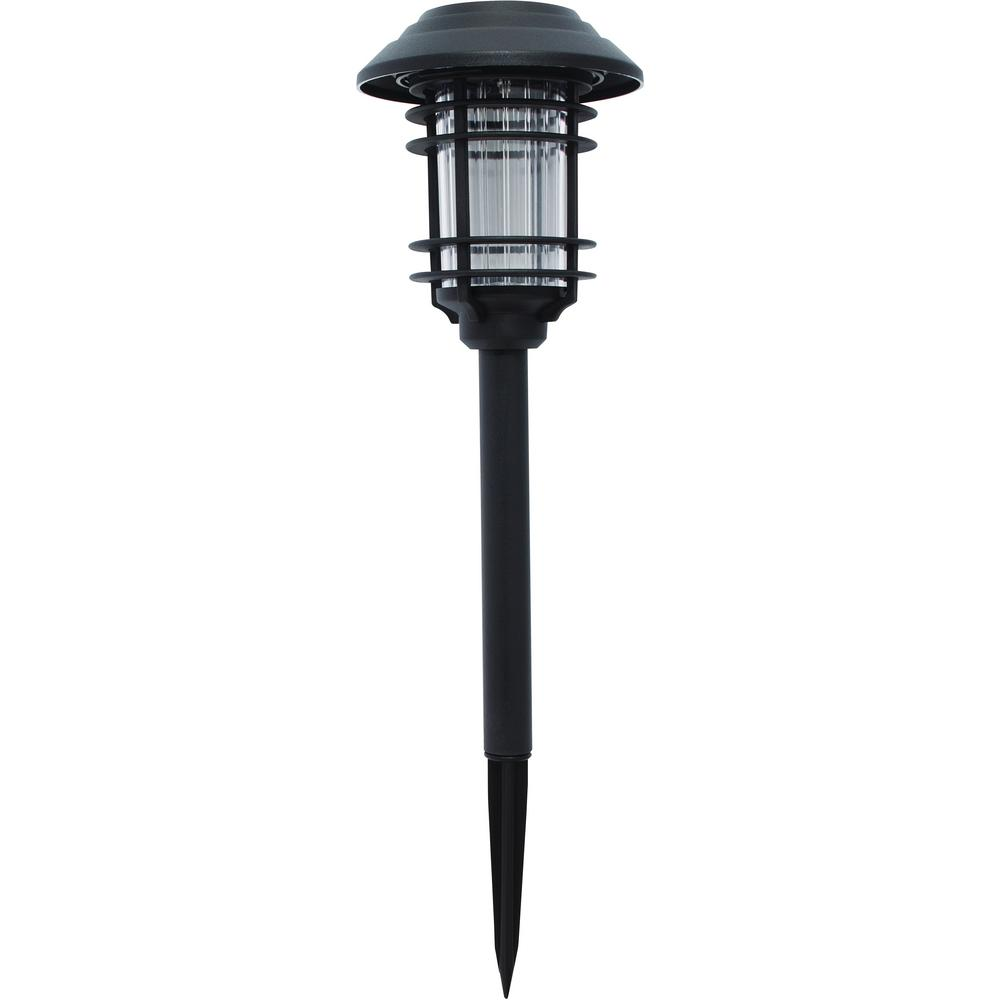 Hampton Bay Solar Black Outdoor Integrated LED Landscape