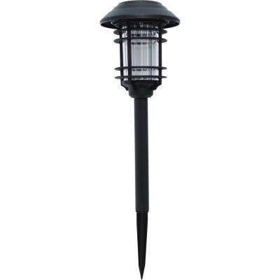 Black Solar LED Pathway Outdoor Light (6-Pack)