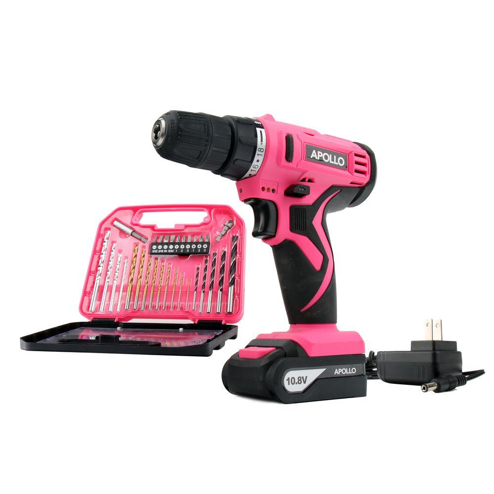 Tools 10.8-Volt Lithium-Ion 3/8 in. Cordless Drill with Accessory Set (30-Piece)