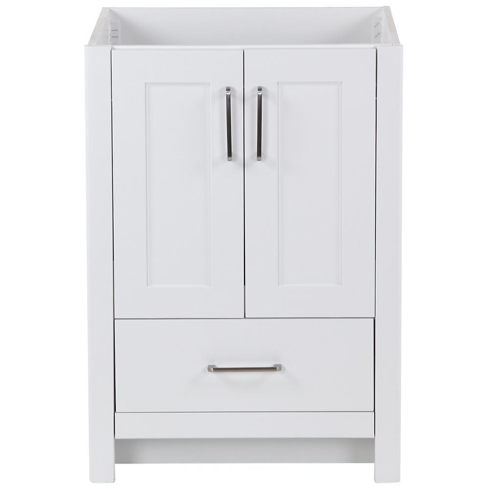 Westcourt 24 in. W x 22 in. D x 34 in. H Bath Vanity Cabinet Only in White