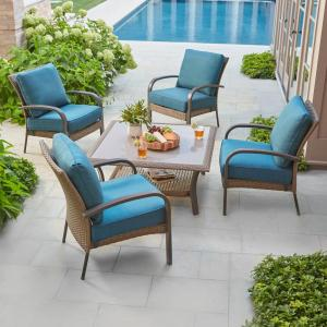 Hampton Bay Corranade 5 Piece Wicker Patio Conversation