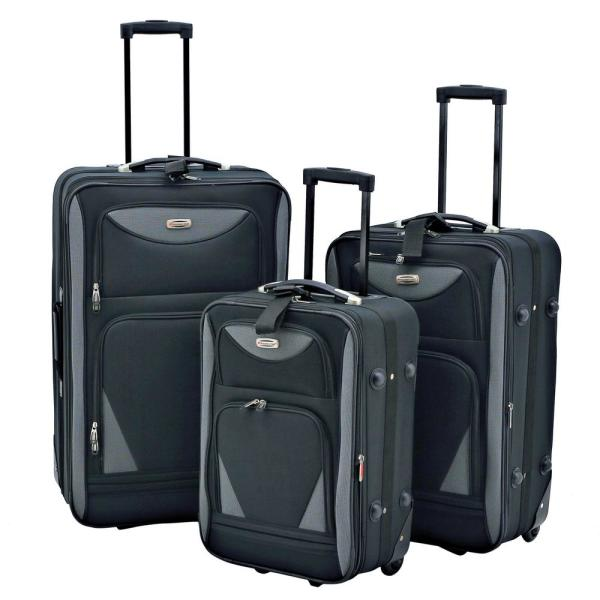3-Piece Softside Expandable Vertical Luggage Set (Skyview)