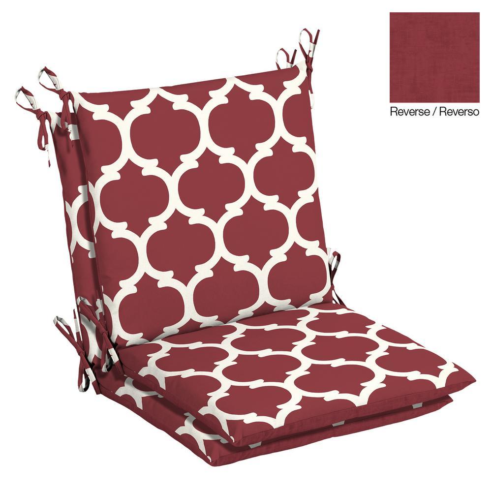 Charmant Hampton Bay 20 X 17 Outdoor Dining Chair Cushion In Olefin Frida Trellis (2