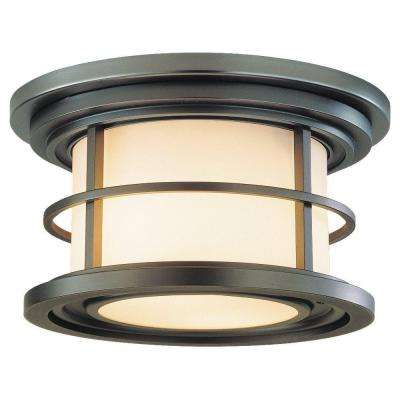 Lighthouse 2-Light Burnished Bronze Outdoor Ceiling Fixture