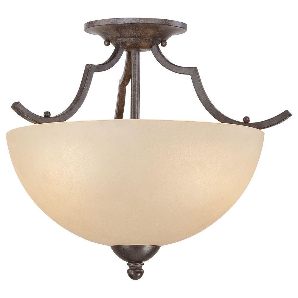 Thomas Lighting Triton 2-Light Sable Bronze Ceiling Flushmount
