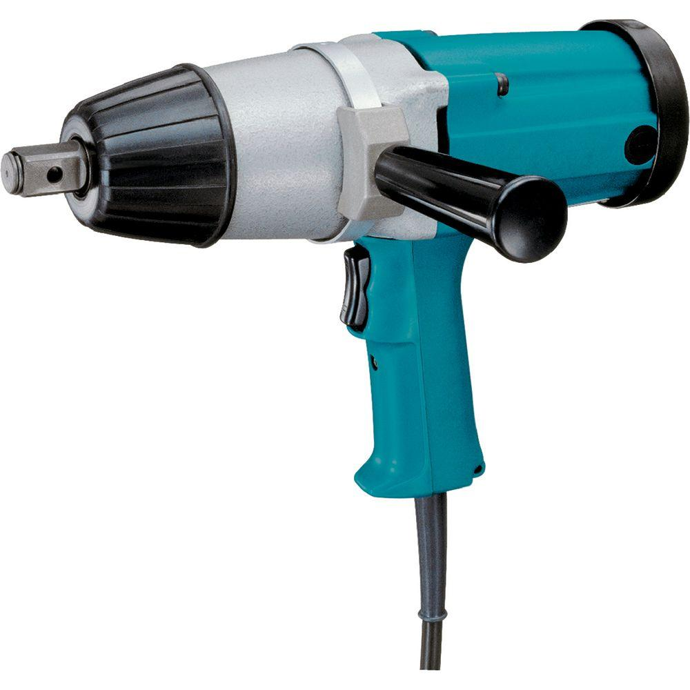 Corded Impact Wrench With Side Handle And Steel Case