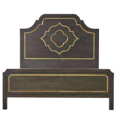 Laila Slate Brown King Bed