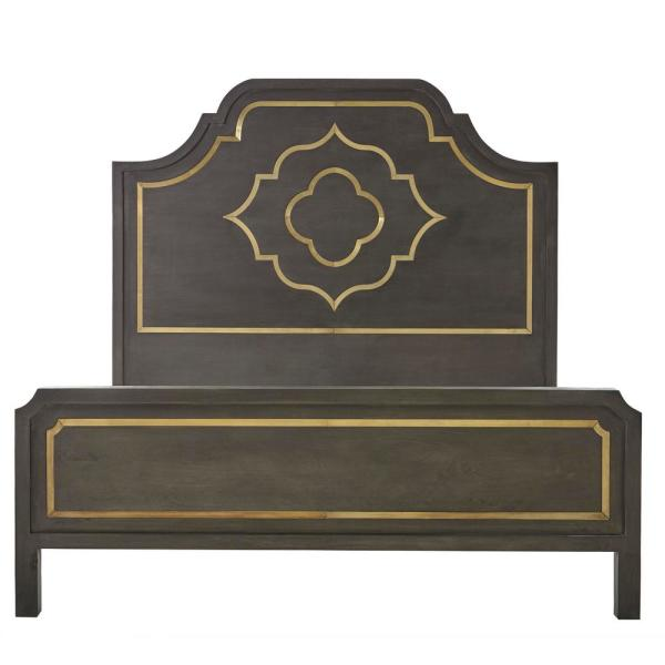 Home Decorators Collection Laila Slate Brown Queen Bed SPEC1CAC-17-039