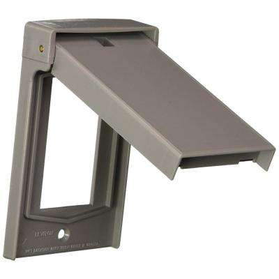1-Gang Decora Weather-Resistant Vertical Cover, Gray