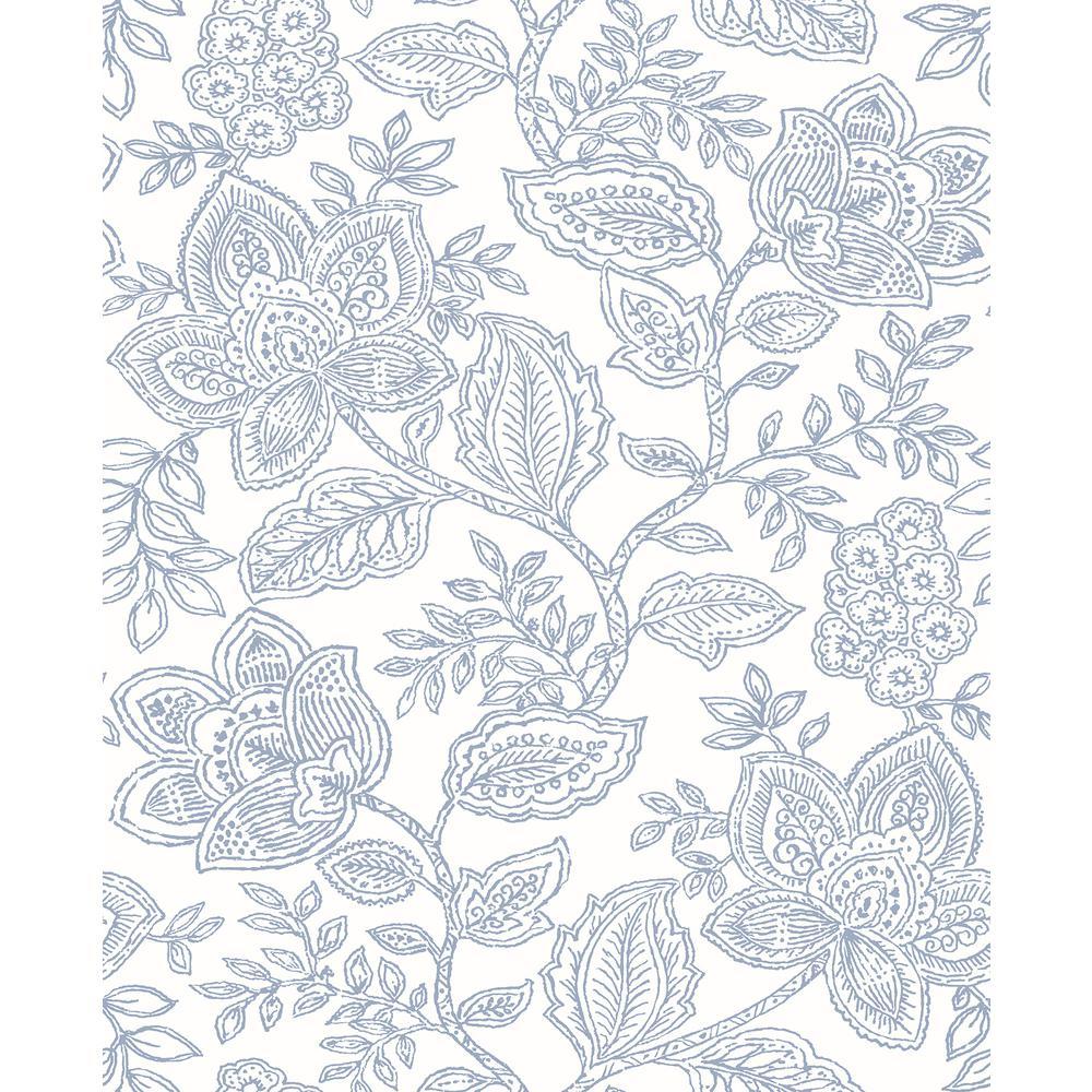 Larkin Lavender Floral Lavender Wallpaper Sample