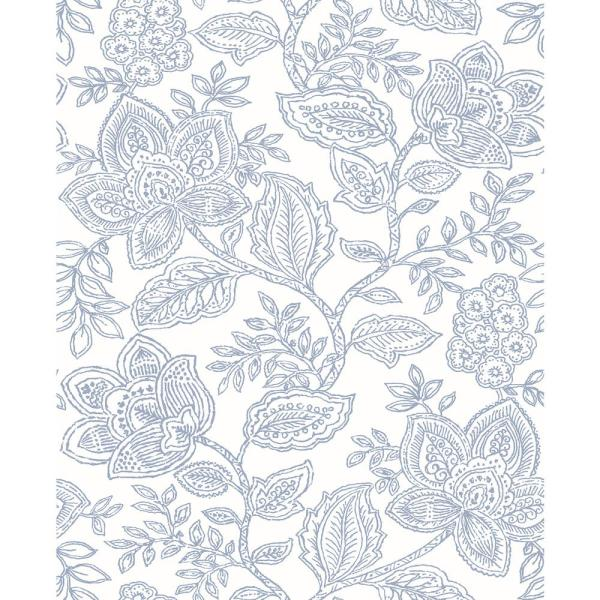 Larkin Lavender Floral Paper Strippable Roll (Covers 56.4 sq. ft.)